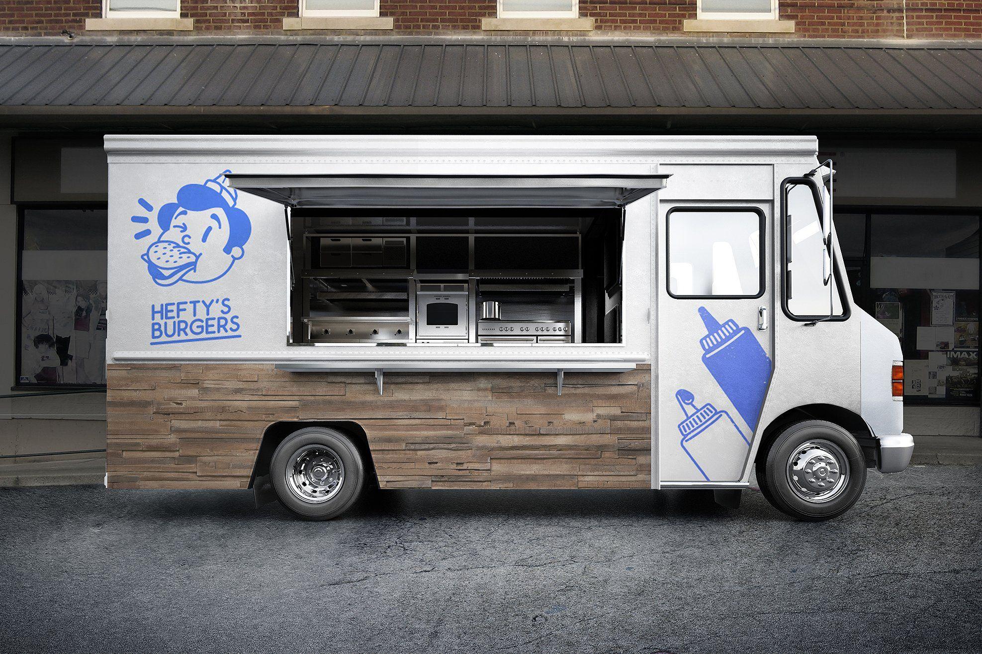 Food Truck Psd Mockup Food Truck Food Truck Design Fine Dining Recipes