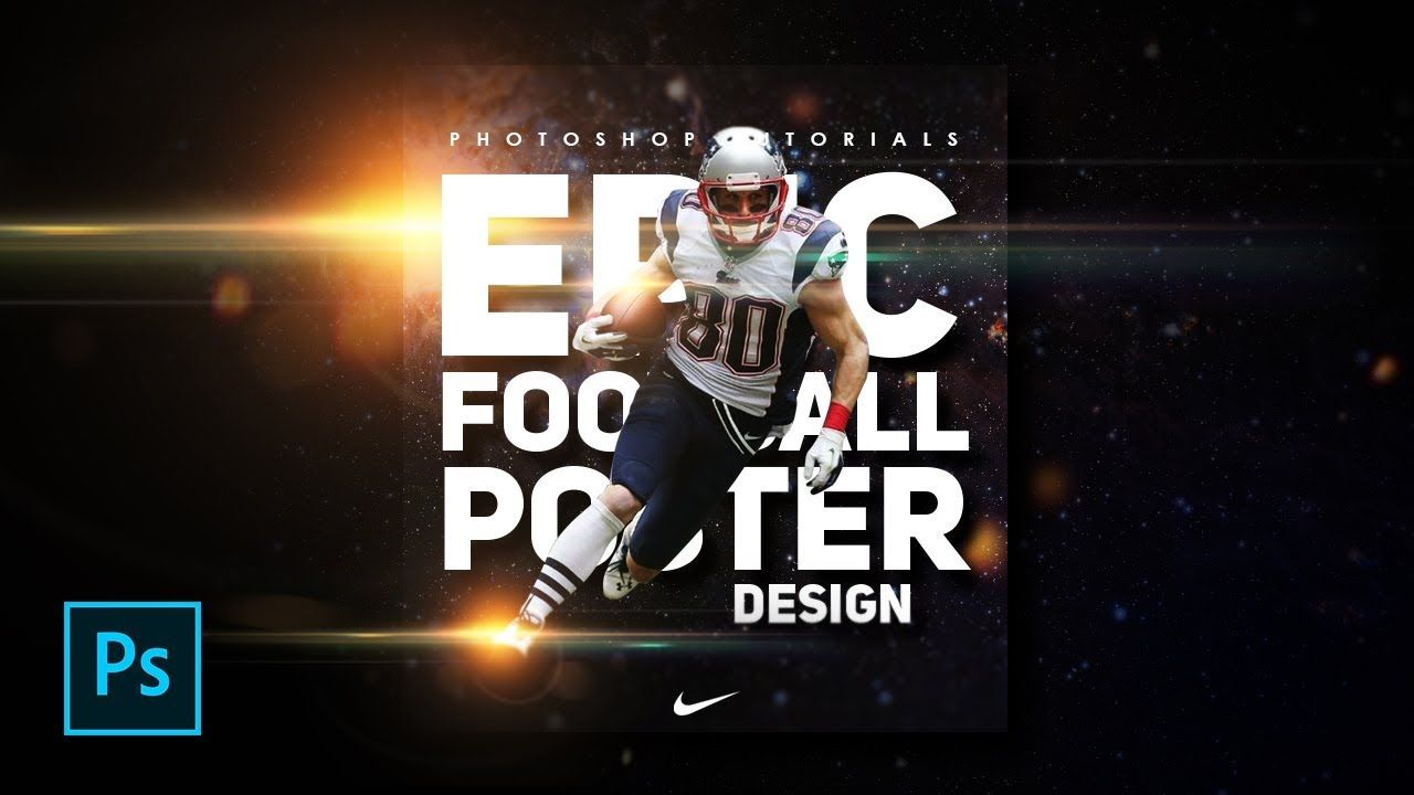 How To Make A Sports Football Poster Design In Photoshop Photoshop T Sport Poster Design Football Poster Photoshop Poster