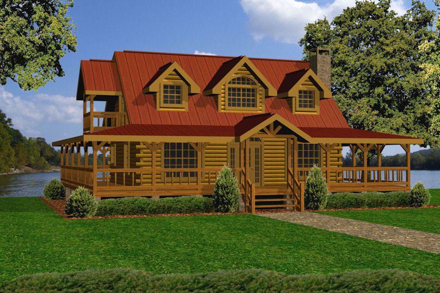 battle creek log homes country corner dream home log homes rh pinterest com