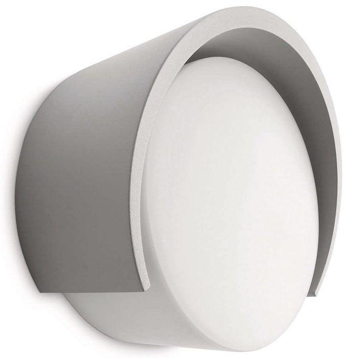Aplique Pared Exterior Aluminio Redondo Gris Claro Iluminacion Lamparas Lamparasdeexterior Exterior Apliques De Pared Pared Exterior Decoracion Barcelona