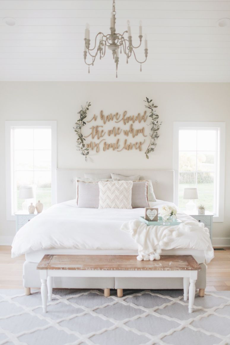 master bedroom wall decor the nest farmhouse bedroom decor rh pinterest com