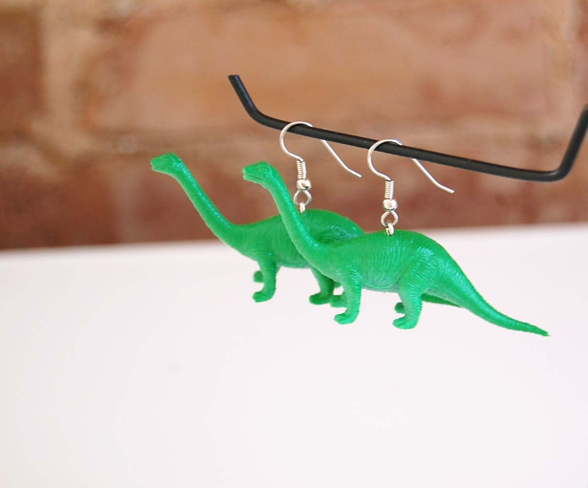 Long Necklace Dinosaur Earrings dinosaur jewelry ...