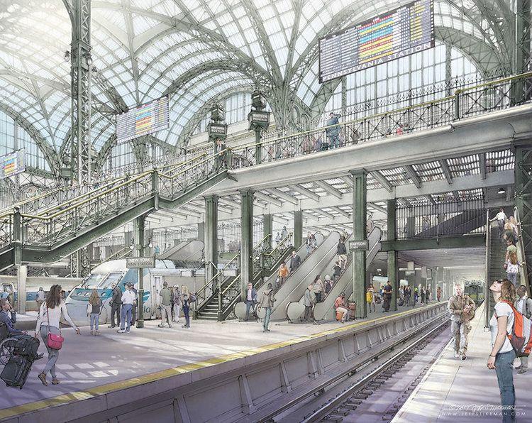 rebuilt concourse with widened platforms and tripled escalators rh pinterest com