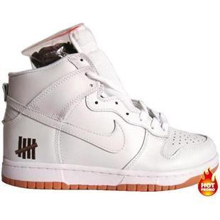 uk availability dc232 ac143 Mens Nike Dunk High Premium White Neutral Grey