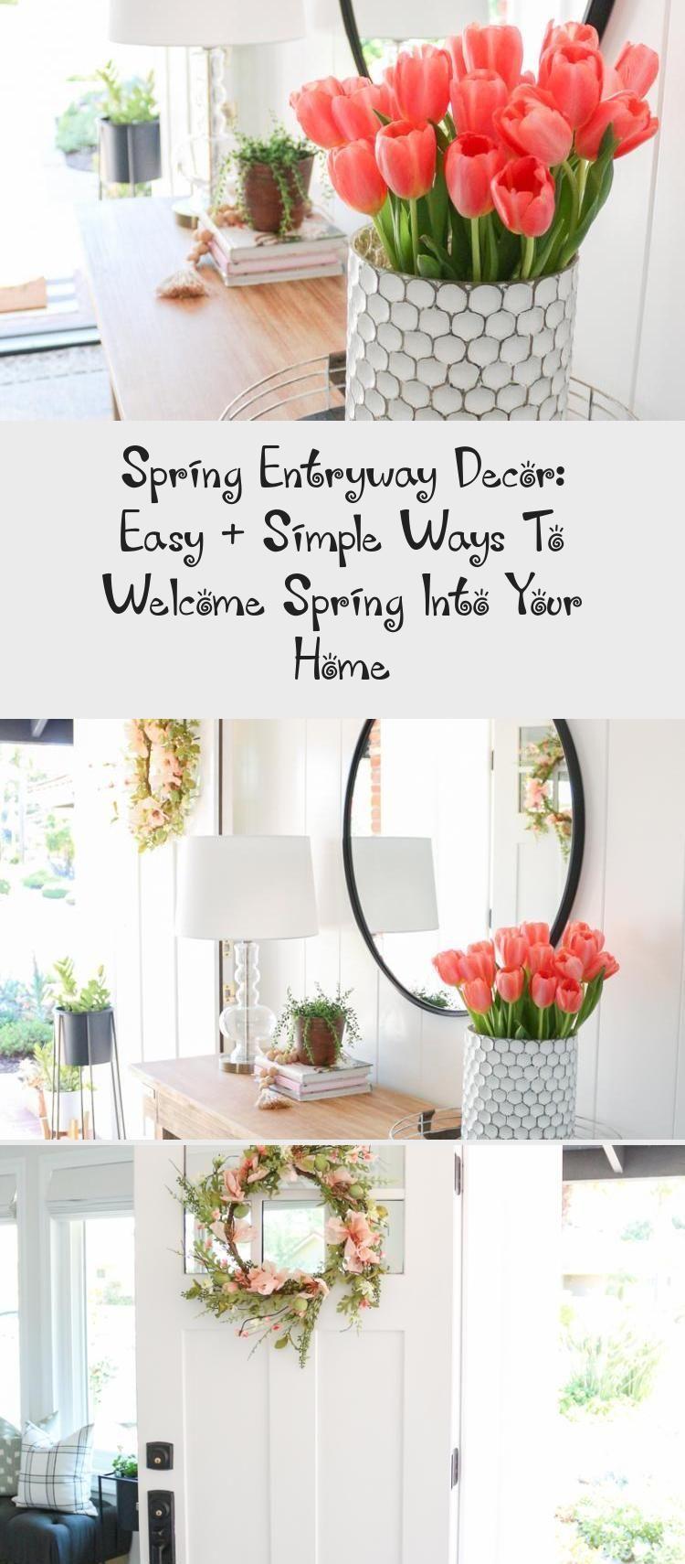 Spring Entryway Decor: Easy + Simple Ways To Welcome Spring Into Your Home -  Spring Entryway Decor: Easy   Simple Ways to Welcome Spring into Your Home #Gardendecor #decorStyle - #bohoFrenchDecor #coastalFrenchDecor #Decor #Easy #eclecticFrenchDecor #Entryway #FrenchDecorcolors #FrenchDecordining #FrenchDecorgold #home #shabbyFrenchDecor #Simple #spring #ways #entryway decor eclectic
