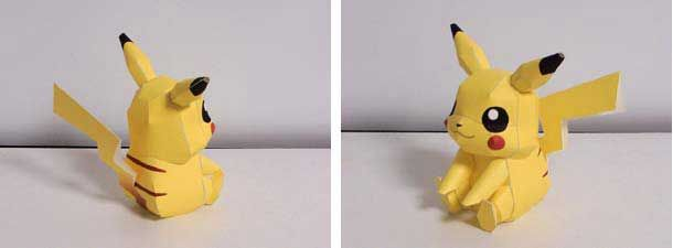 Pikachu Papercraft Model Instruction And Tutorial