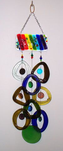 Purchase upcycled glass wind chime at the Troll Hole Art Emporium http://thetrollhole.com/index.html