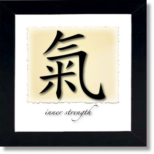 Chinese Symbols For Words Framed Wall