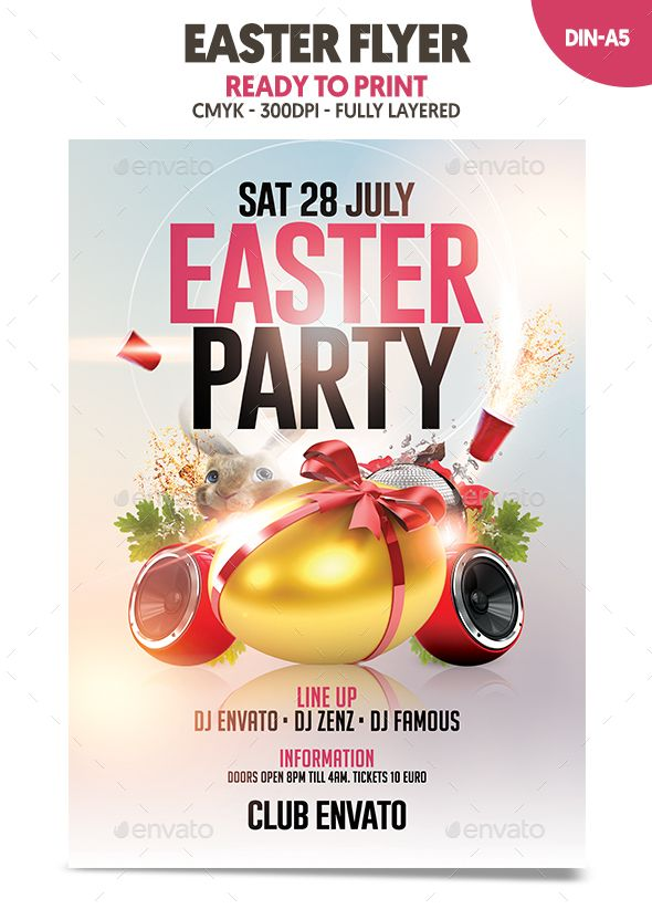 Easter Flyer  Flyer Template Event Flyers And Font Logo