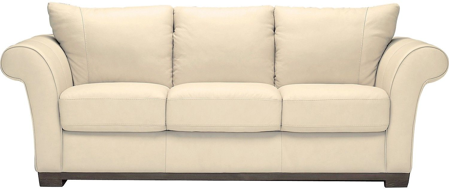 Ivory Leather Sofa Set Hereo