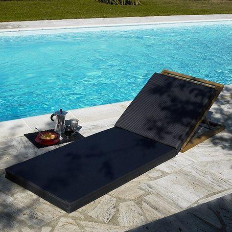 Great Matelas Transat Noir Costa #bain #soleil #transat #fauteuil #outdoor #garden