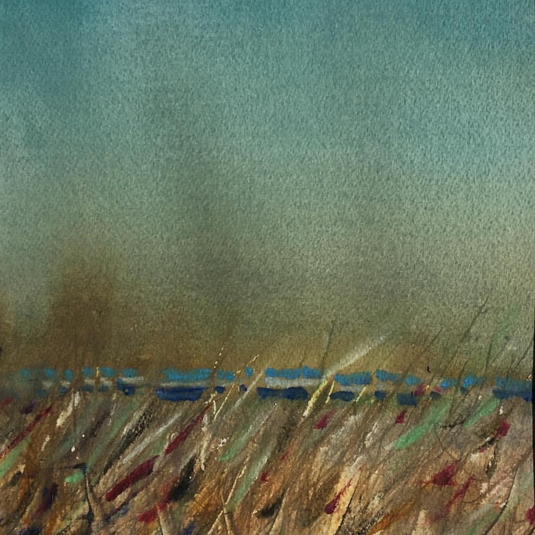 Beach Grass Gearhart Oregon Pleinair In Watercolor