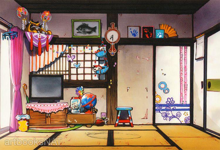 artbooksNAT   Mawaru Penguindrum(輪るピングドラム) finished background...