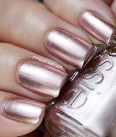 Rose Gold Nails Essie Penny