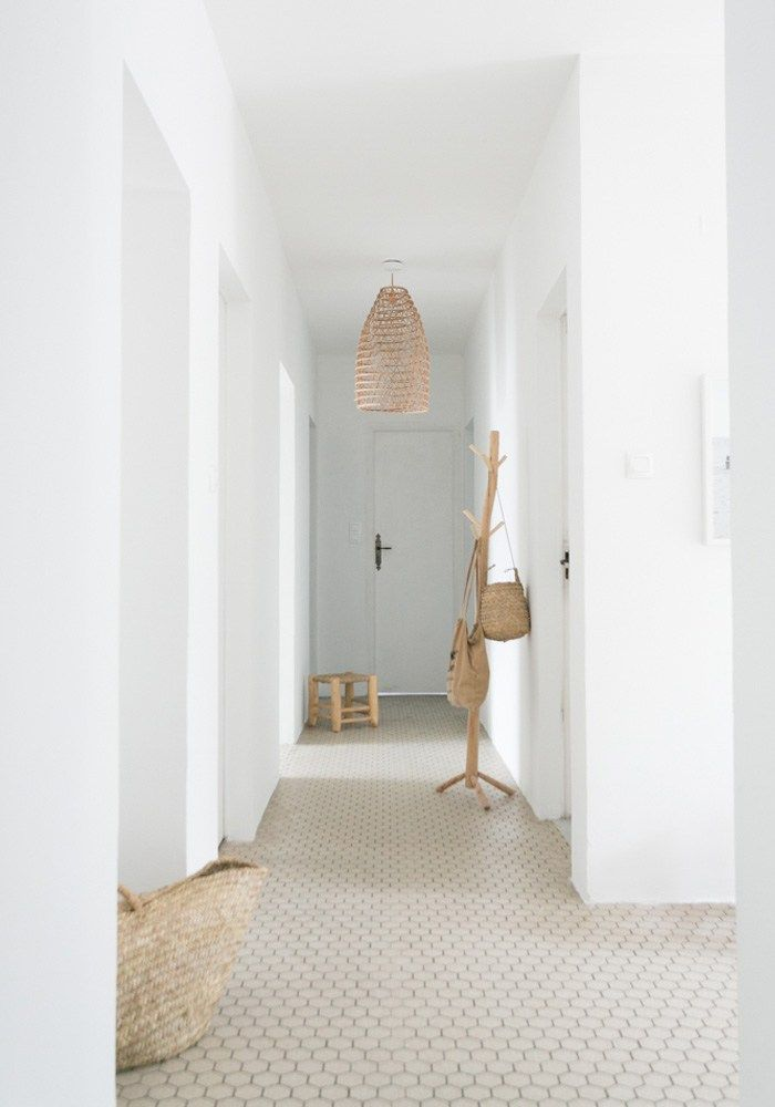 before after our minimalist beach hallway makeover living rh pinterest com