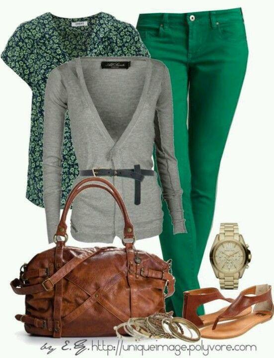 gris y verde