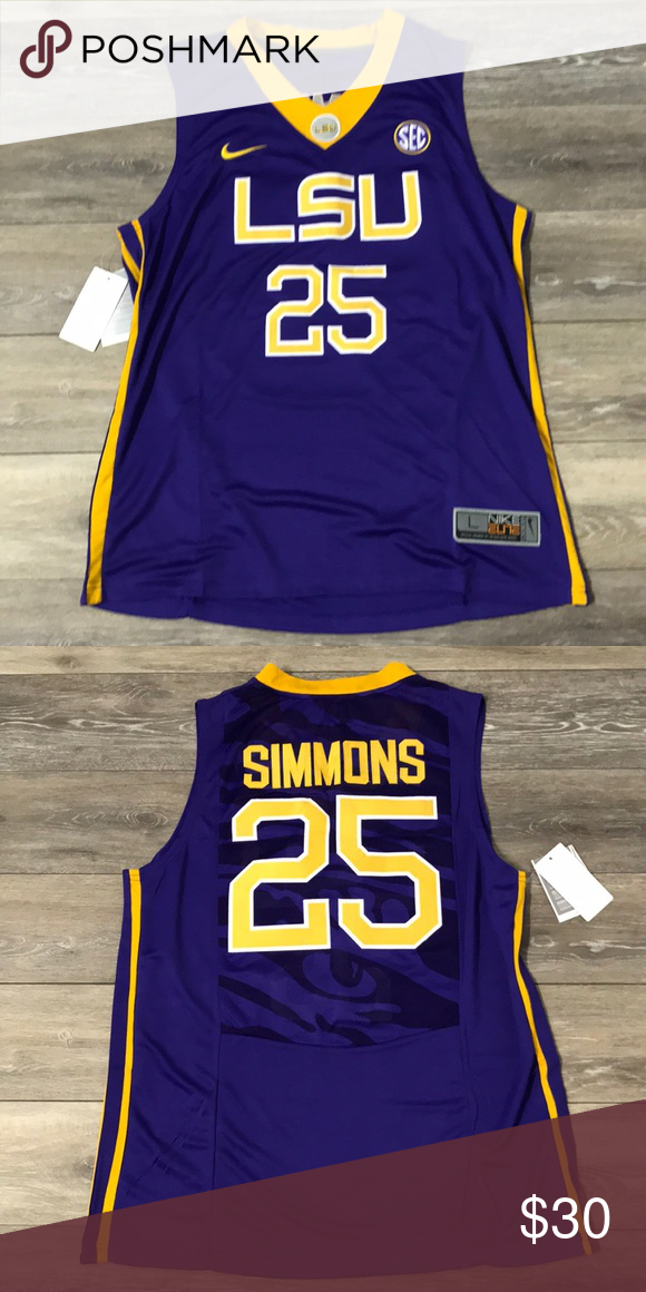 best authentic bcea2 5004a Ben Simmons LSU Tigers College Jersey NWT Large Brand New ...