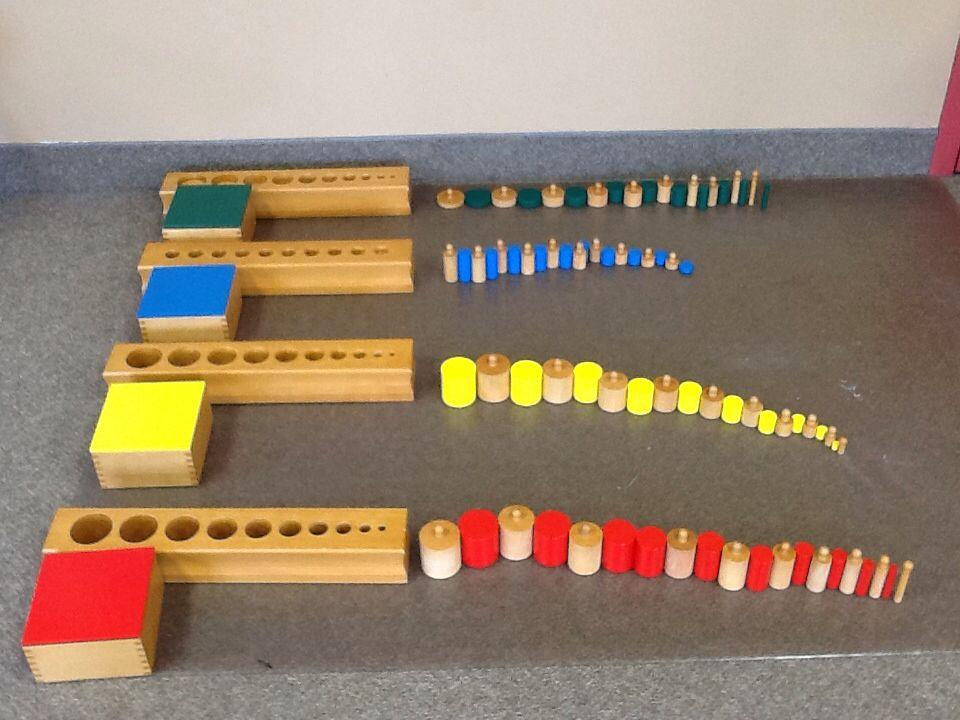sensorial cylinder blocks Learn how the northwest montessori preschool program helps binomial cube, cylinder blocks the main purpose of the sensorial area is to develop.