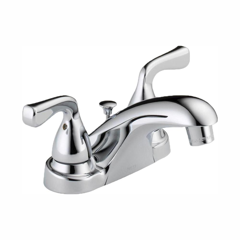 Delta Foundations 4 In Centerset 2 Handle Bathroom Faucet In