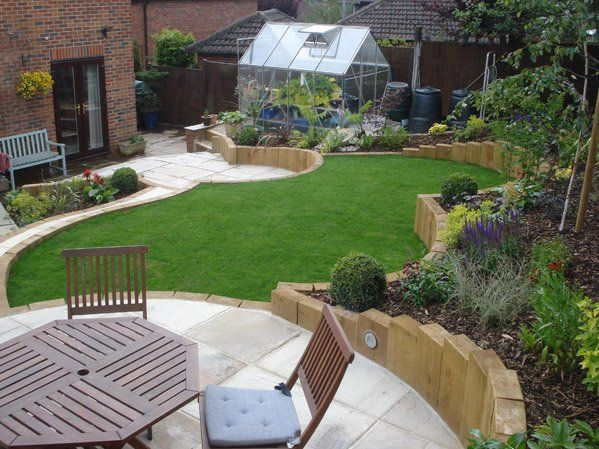 Small backyard landscaping ideas for sloped yard with for Low maintenance sloping garden ideas