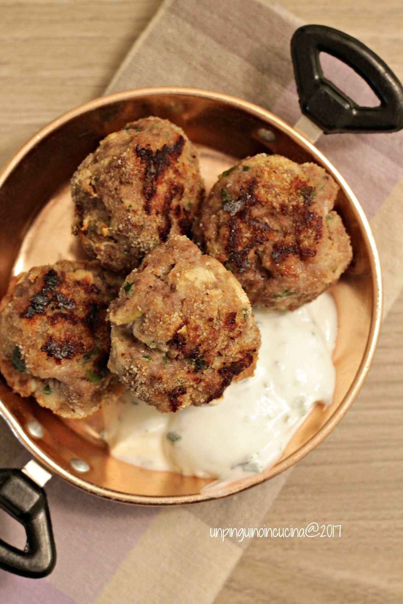 Apple & Ginger Meatballs with Lime Yoghurt Dressing - Polpette di ...