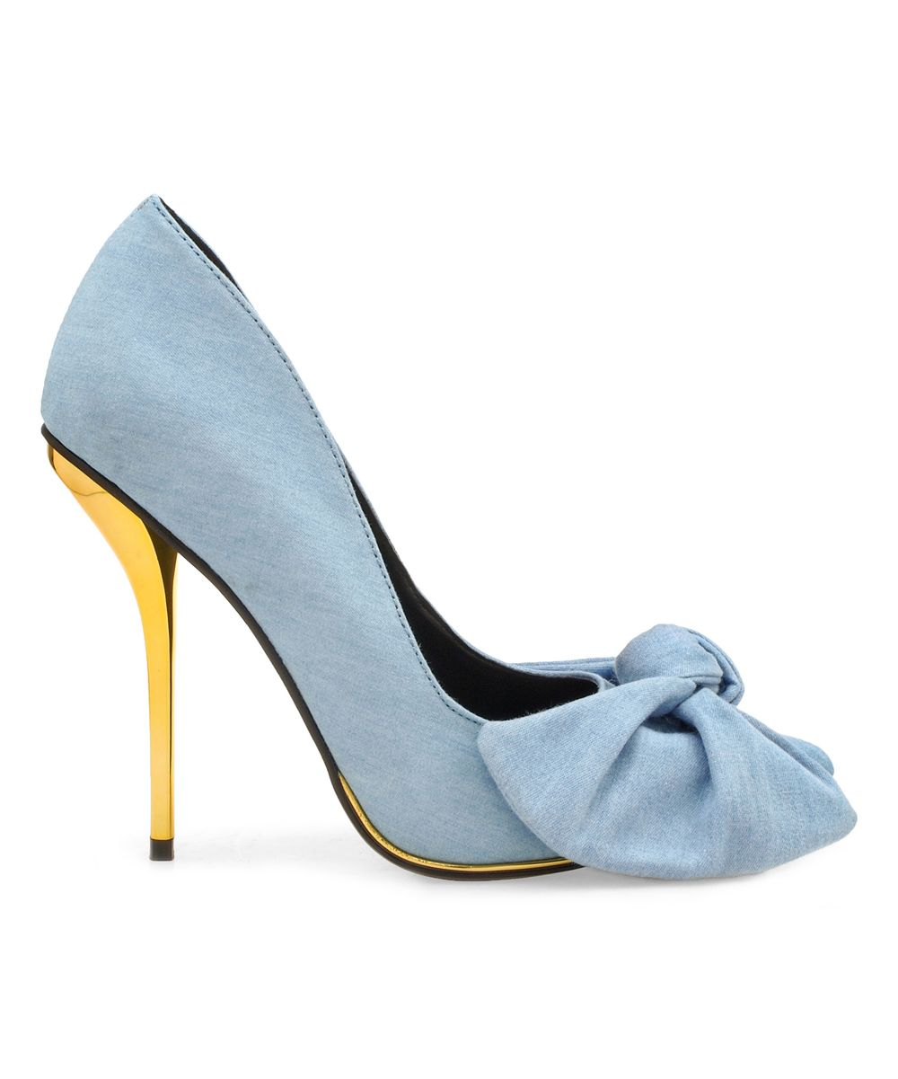 Denim & Gold Valencia Pump