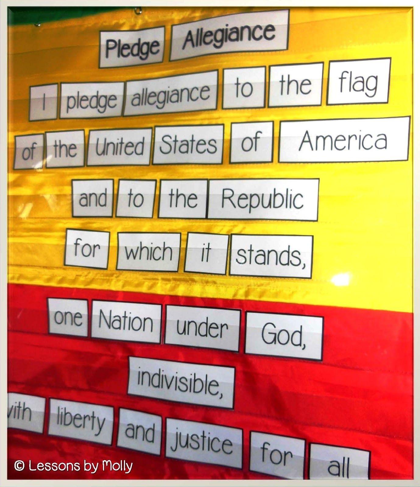 Pledge Of Allegiance Freebie And Civics Lessons