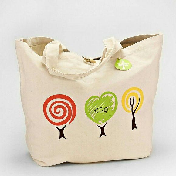 Going Green Eco Friendly Reusable Tote Green Canvas Bag Tote Bag Shopper Tote