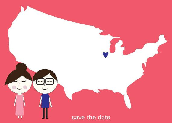 Cute and customizable Illustrated characters and the US map Save