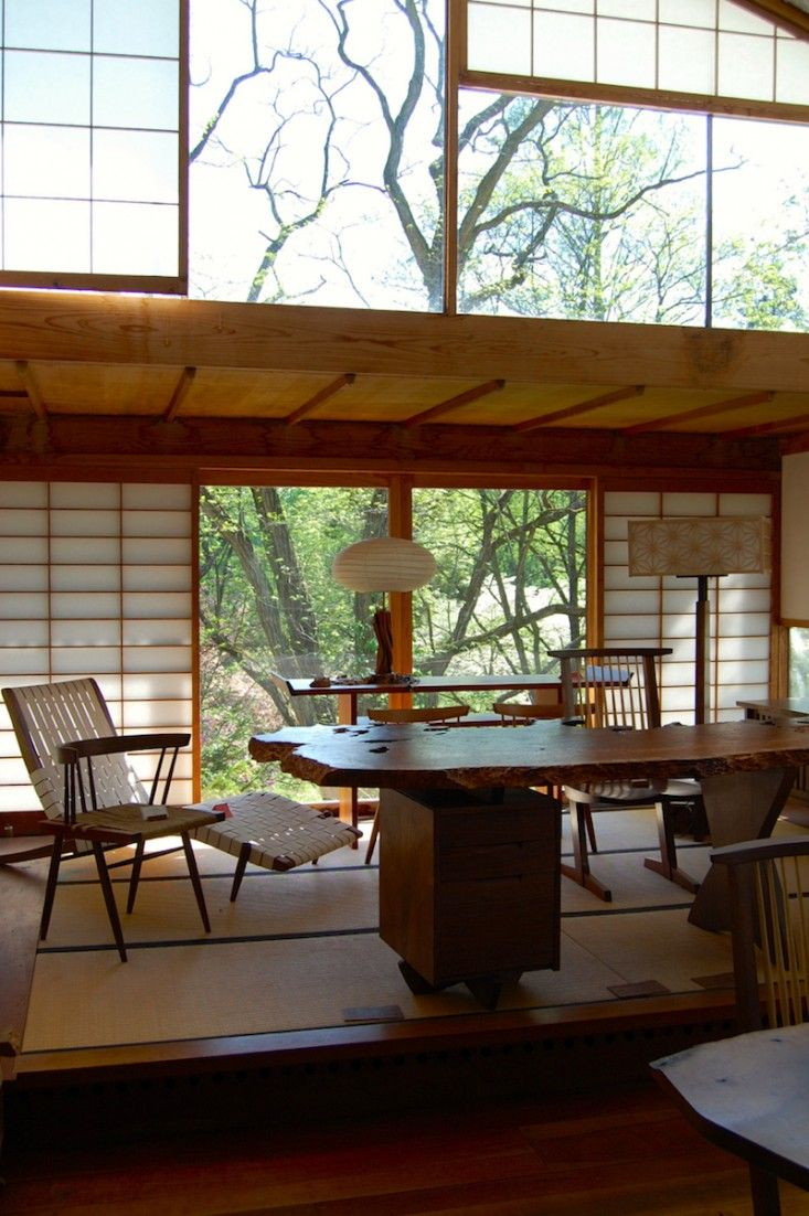 into the woods nakashima garden and studio in new hope rh pinterest com