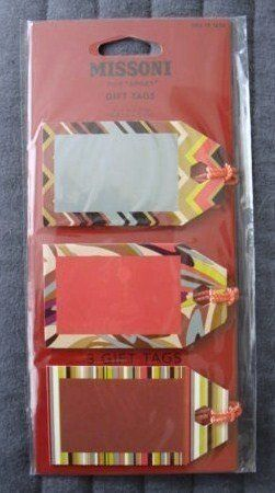 Missoni for Target Gift Tags - 3 Gift Tags >>> You can get more details by clicking on the image.