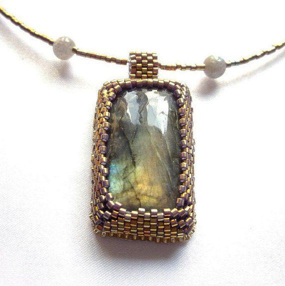 Labradorite necklace pendant Gemstone necklaces Gemstone gift ideas