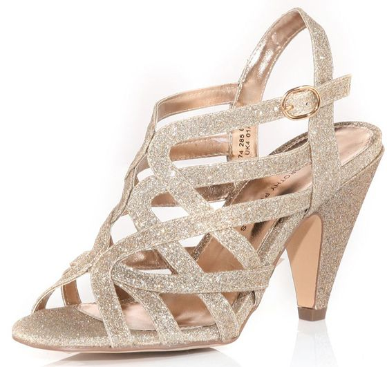 58a13f437a Dorothy Perkins Nude Glitter Open Sandal - love these | Head 2 Toe ...