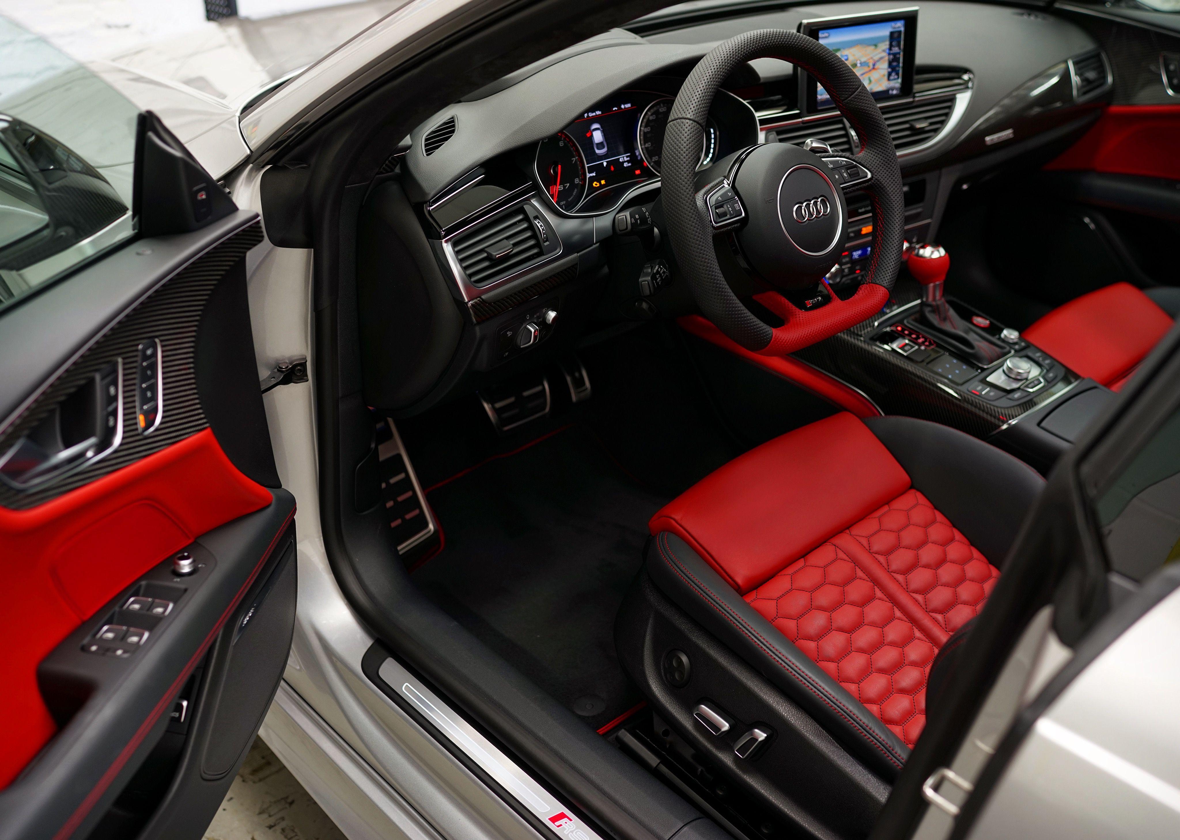 Yeah, this Crimson interior is ridiculous!#Audi #RS7 # ...