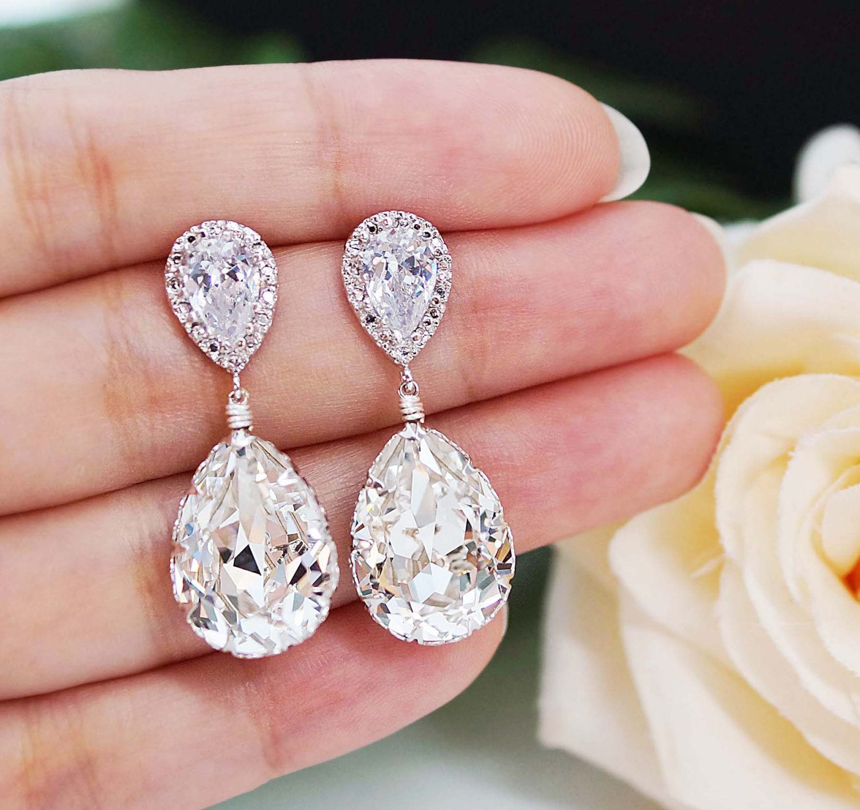Wedding Jewelry Bridal Earrings Bridesmaid Earrings Dangle Earrings ...