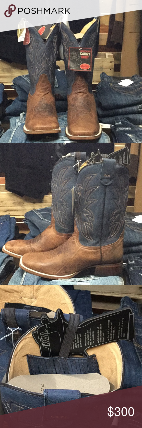 9a8685ad27d Roper men's Conceal to Carry Western Boots Sidewinder CCS. Square ...