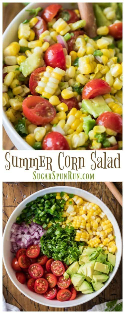 to make the best easy SUMMER CORN SALAD! A great cookout or potluck dish! via @sugarspunrun