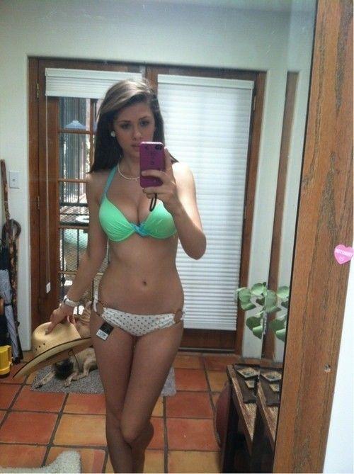 mirror selfie lingerie Hot girl