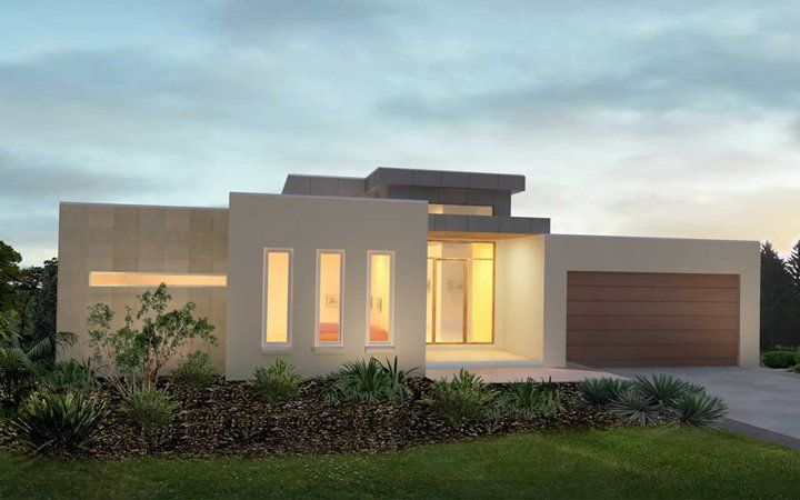 Metricon home designs the latitude modern facade visit for Modern single floor house designs