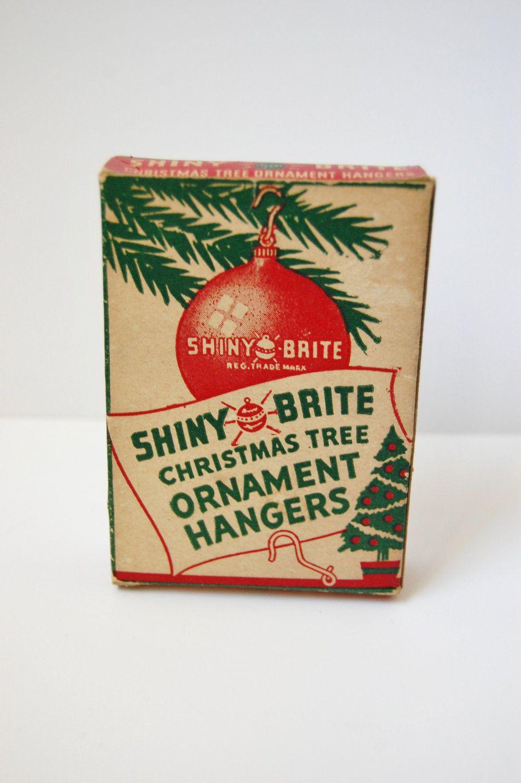 Vintage Box of Shiny Brite Christmas Tree Ornament Hooks  Vintage