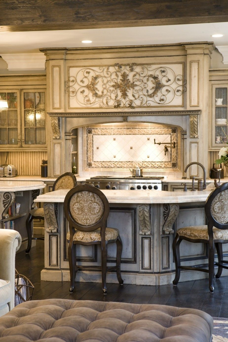 Grand European Casual Habersham Kitchen Cabinets With Racks And Drawers Gorgeous Luxury Kitchens Tuscan Kitchen Beautiful Kitchens