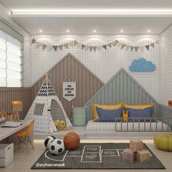 Modern bedroom design idea with floorboards  window seat using black colours - Bedroom photo 297823