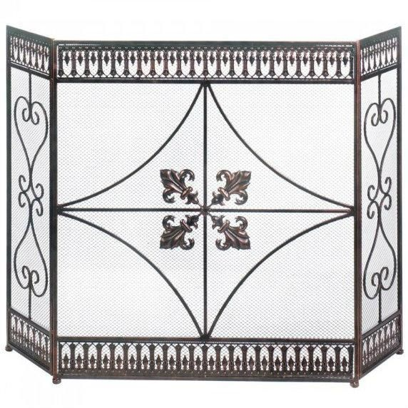 french fleur de lis iron fireplace screen products decorative rh pinterest com