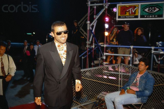George Michael Arriving at the MTV Video Music Awards - AX931083 - Rights Managed - Stock Photo - Corbis