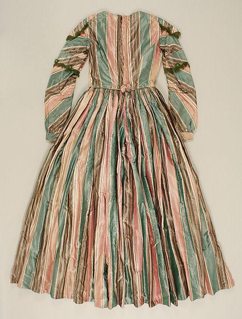 c.1845 Afternoon dress, British; silk (view 4)