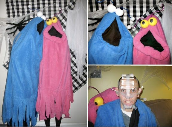 2009 costumes: the yip yips from sesame street (and a bonus photo from a party game)