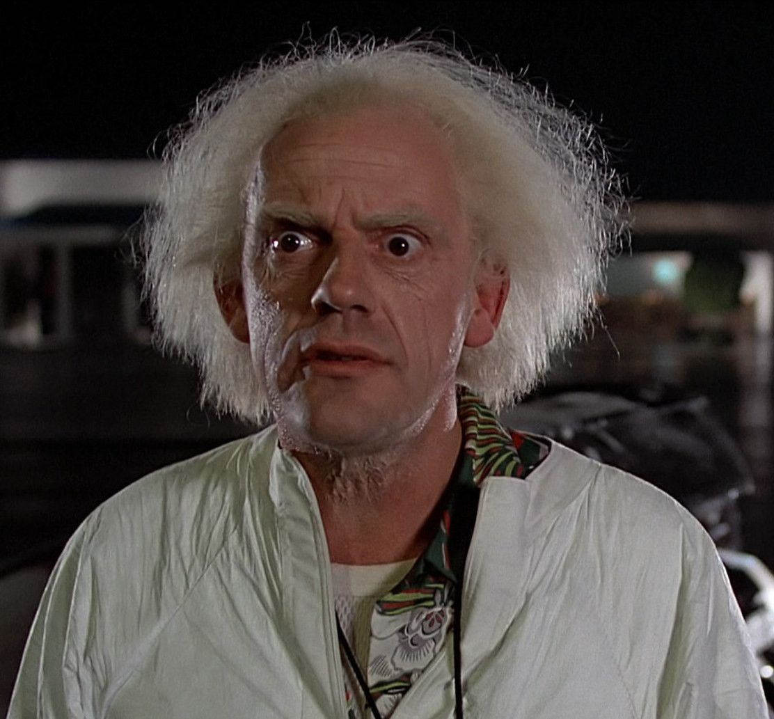 On this day in history; November 5th, 1955, this man invented the flux capacitor and thus time travel