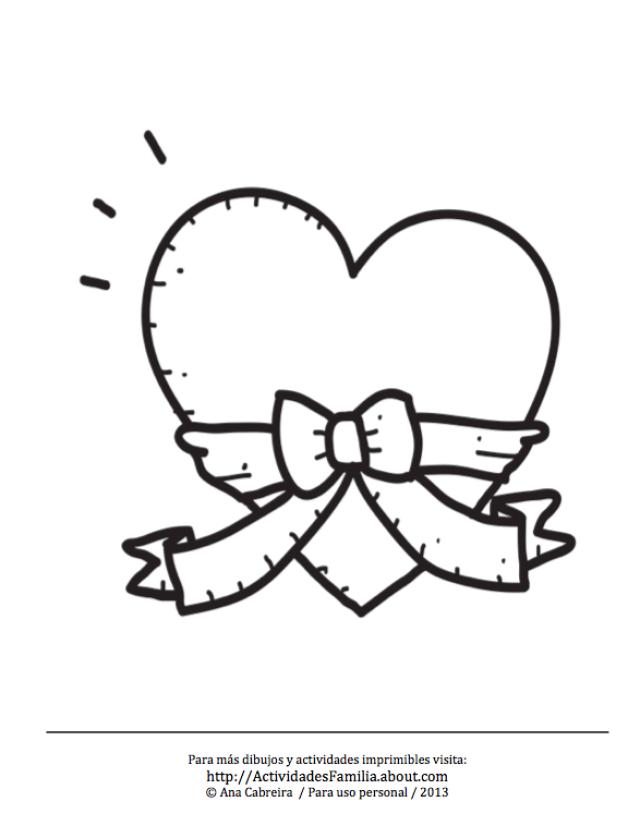 10 Dibujos de corazones para imprimir y colorear