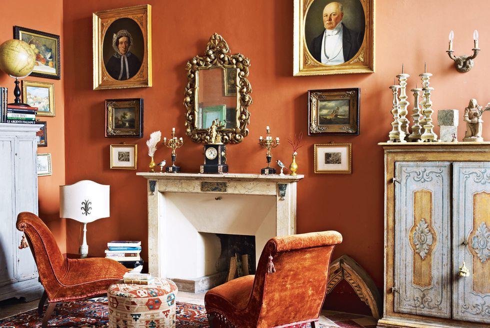 15 energizing orange paint and decor ideas living room