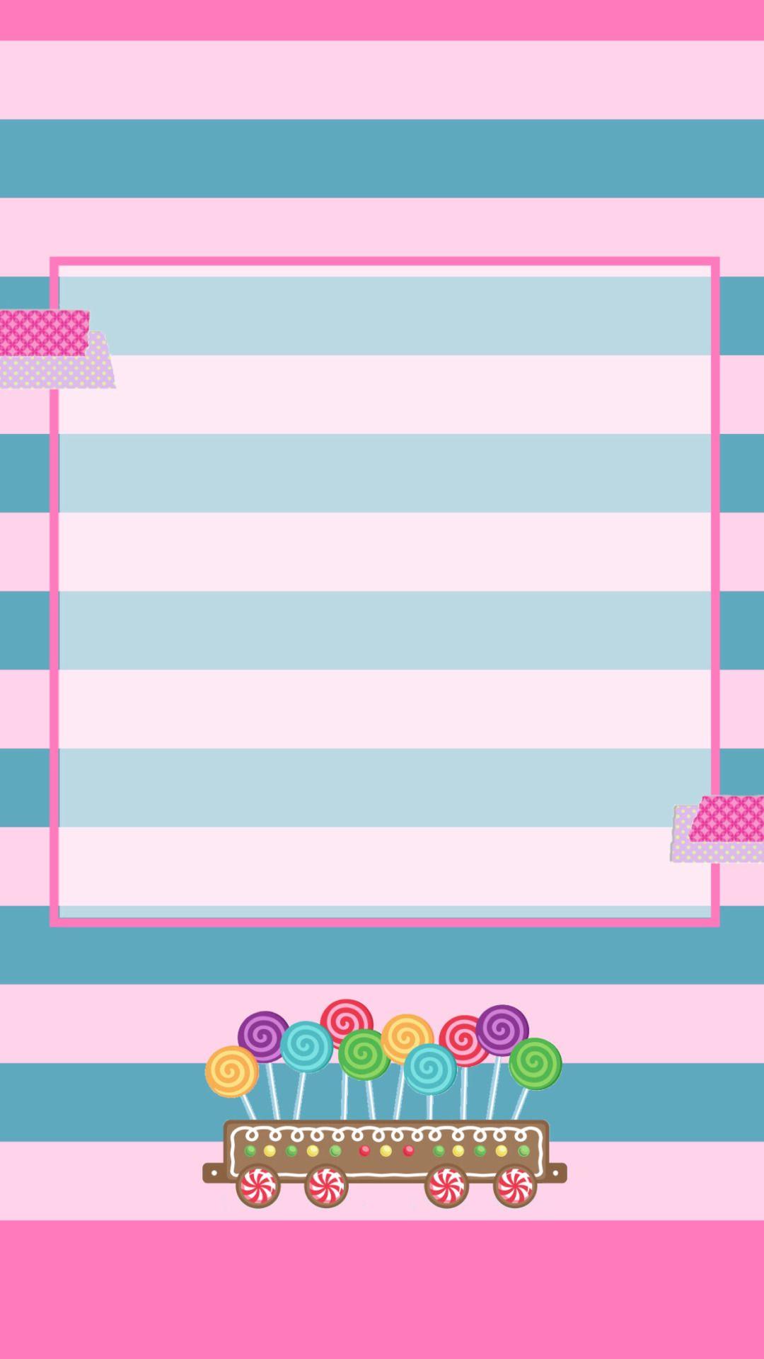 striped wallpaper witn pink pink and flowers wallpaper rh pinterest cl